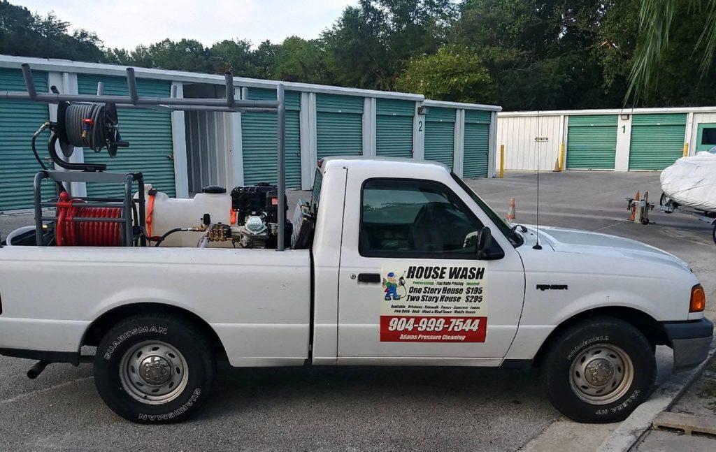 Adams Pressure Cleaning Truck Orange Park pressure washing