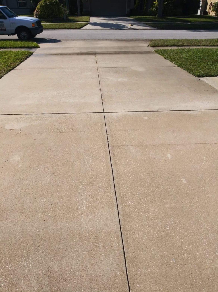 Adams Pressure Cleaning Orange Park FL pressure washing Driveway after