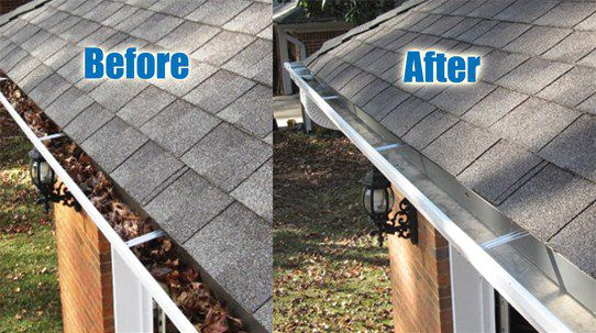 CLEAN GUTTERS WITH PRESSURE WASHER