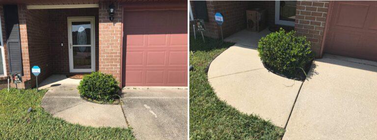sidewalks pressure cleaning jacksonville